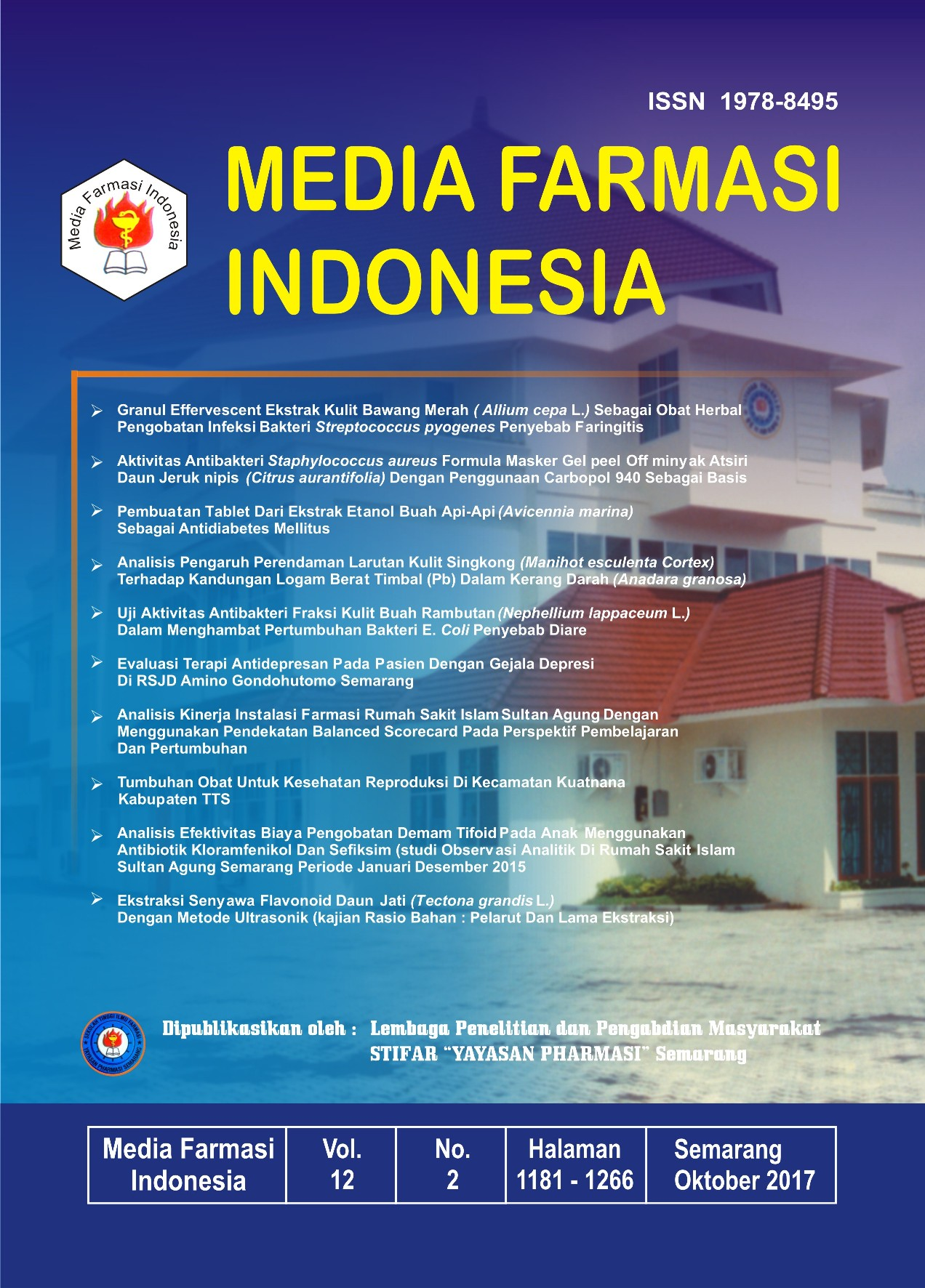 Media Farmasi Indonesia Volume 12 Nomor 2